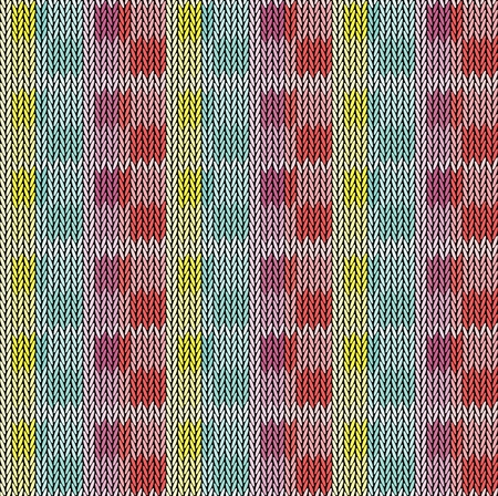 Seamless background pattern. Knitted multicolored texture. Geometry, lines, patterns. 向量圖像