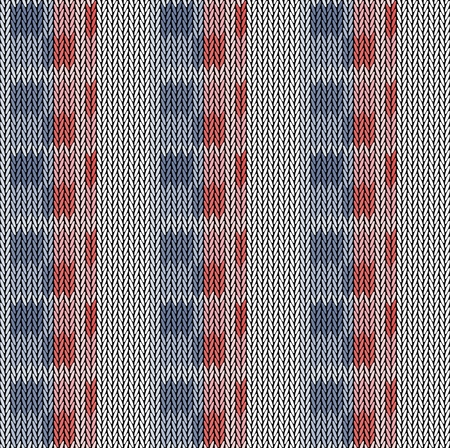 Seamless background pattern. Knitted multicolored texture. Geometry, lines, patterns.