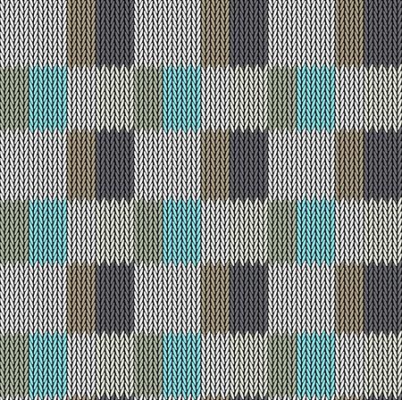 Motif de fond sans couture. Texture multicolore tricotée. Géométrie, lignes, motifs. Vecteurs