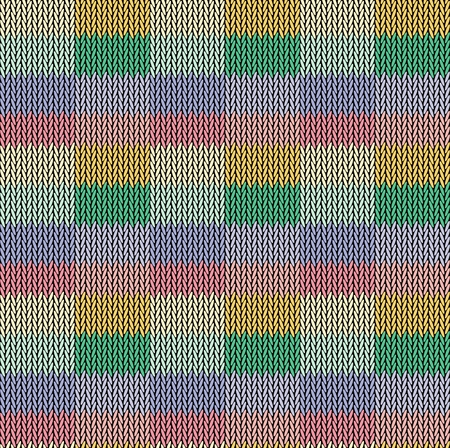 Seamless background pattern. Knitted multicolored texture. Stock Vector - 125313456