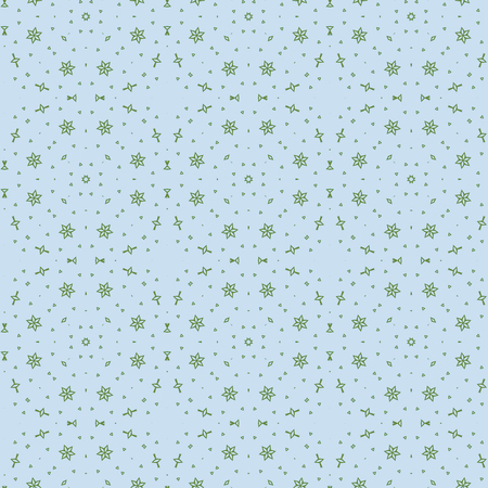 Seamless color pattern from a variety of shapes.