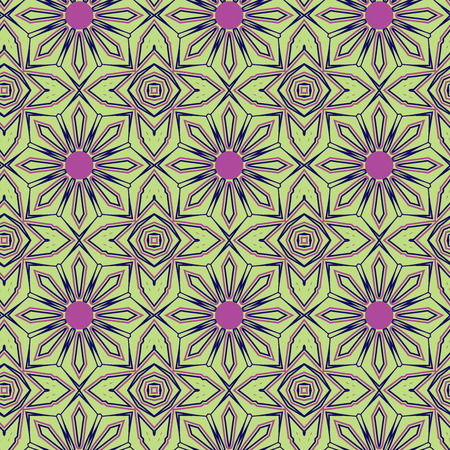 Seamless color pattern from lines of different thickness. Stock Photo