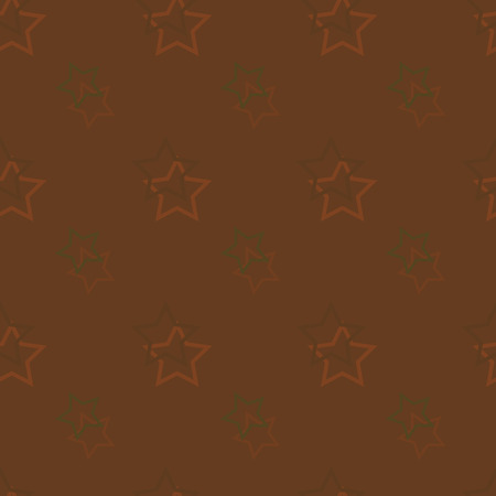 Seamless background pattern with colored diverse stars. Banco de Imagens