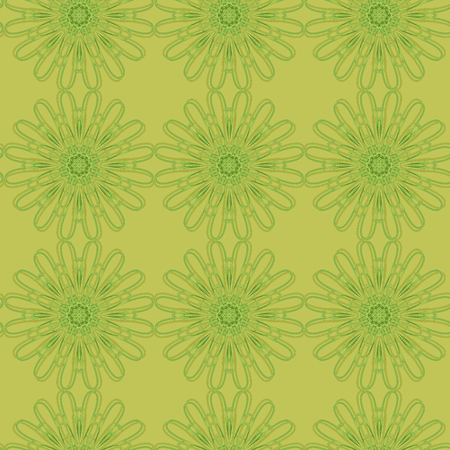 Seamless floral pattern with a variety of floral motifs.