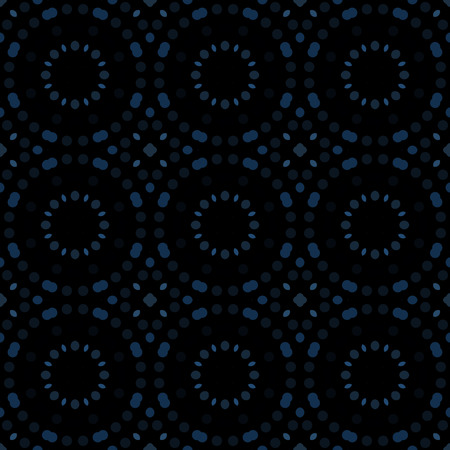 Seamless abstract pattern background with a variety of colored circles.