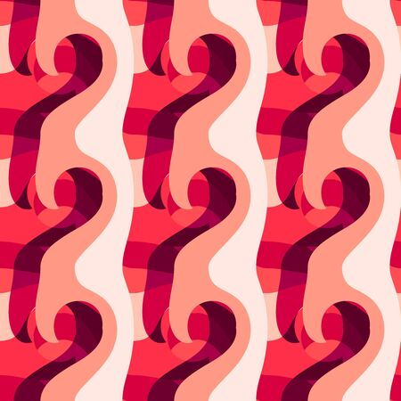 Seamless pattern background with multi-colored wavy lines. Reklamní fotografie - 124876542