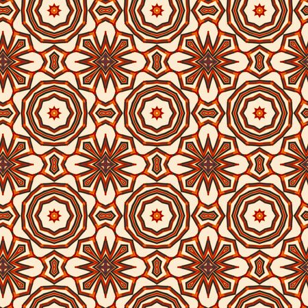 Seamless color pattern from a variety of geometric shapes.