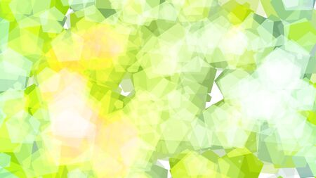 Abstract background with various multicolored pentagons. Big and small.
