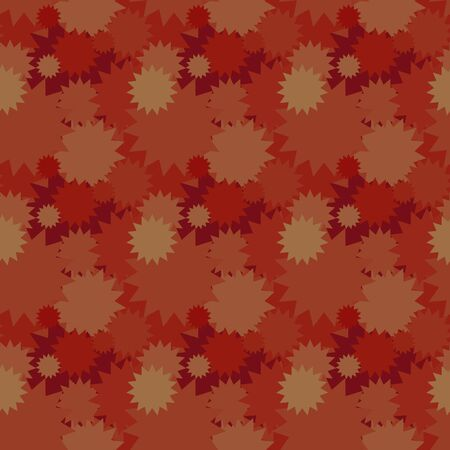 Seamless background pattern with various colored circles.