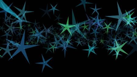 Colorful different stars. Background from different sizes of stars of different shades of the same color.