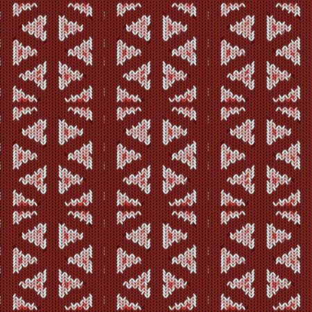 Seamless background with a knitted texture, imitation of wool. A variety of different patterns. Banque d'images