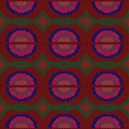 Nahtloser Hintergrund mit einer gestrickten Textur, Nachahmung der Wolle. Eine Vielzahl unterschiedlicher Muster.