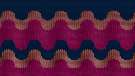 Background with a knitted texture, imitation of wool. Multicolored diverse lines. Reklamní fotografie