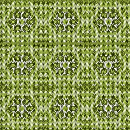Seamless background with a knitted texture, imitation of wool. A variety of different patterns. 스톡 콘텐츠