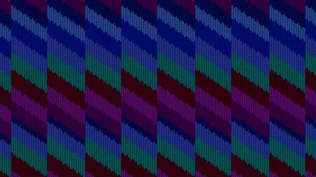 Background with a knitted texture, imitation of wool. Multicolored diverse lines. 写真素材 - 130018698