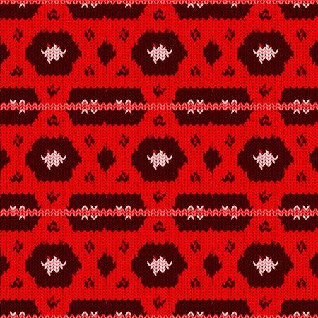 Seamless background with a knitted texture, imitation of wool. A variety of different patterns. Stok Fotoğraf