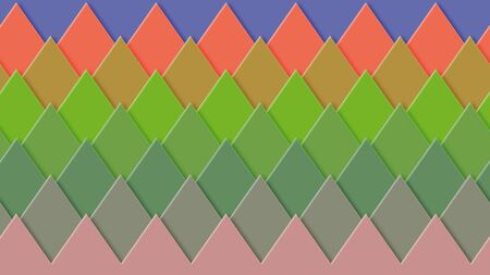 Background in paper style. Of multi-colored details.
