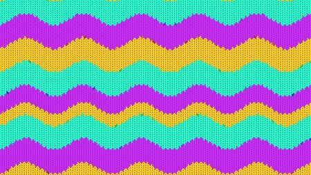 Background with a knitted texture, imitation of wool. Multicolored diverse lines. Stock fotó