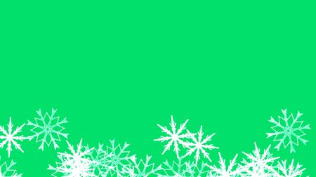 Abstract background with a variety of colorful snowflakes. Big and small. Archivio Fotografico - 131348719