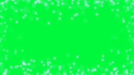 Abstract background with a variety of colorful snowflakes. Big and small. Archivio Fotografico - 131355514