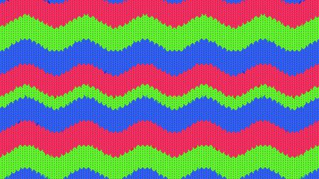 Background with a knitted texture, imitation of wool. Multicolored diverse lines. Фото со стока