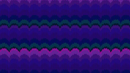 Background with a knitted texture, imitation of wool. Multicolored diverse lines. 写真素材