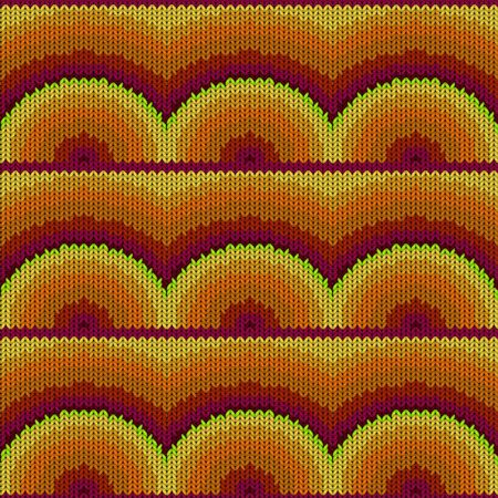 Seamless background with a knitted texture, imitation of wool. A variety of different patterns. 写真素材