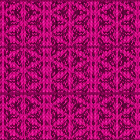 Seamless background with a knitted texture, imitation of wool. A variety of different patterns. Banco de Imagens