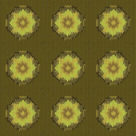 Seamless background with a knitted texture, imitation of wool. A variety of different patterns. Фото со стока