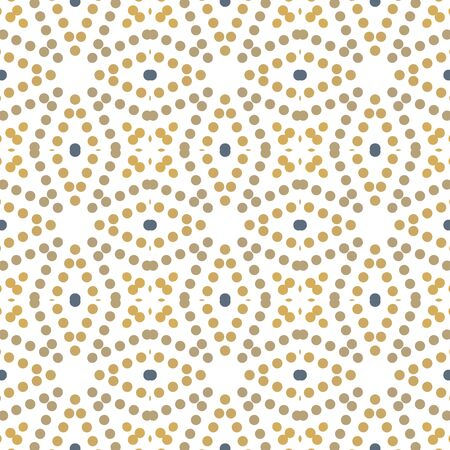 Seamless abstract pattern background with a variety of colored circles. Imagens