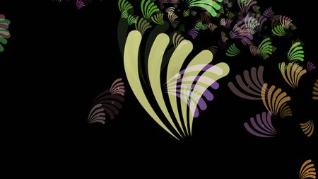 Abstract background pattern with plant matter. Multicolored background.