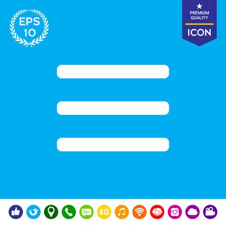 web portal: Menu Icon