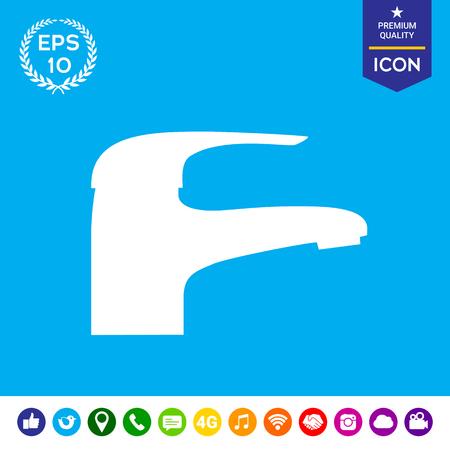 stopcock: Modern Faucet icon Illustration