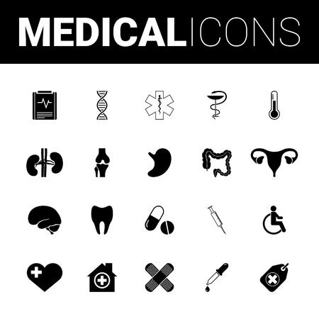 Zestaw medyczny ikony