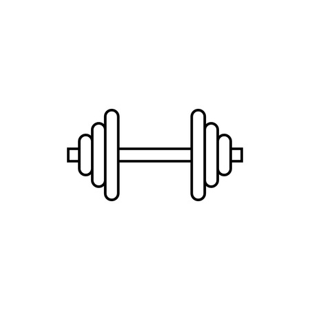 Barbell line icon Stock Vector - 84281491