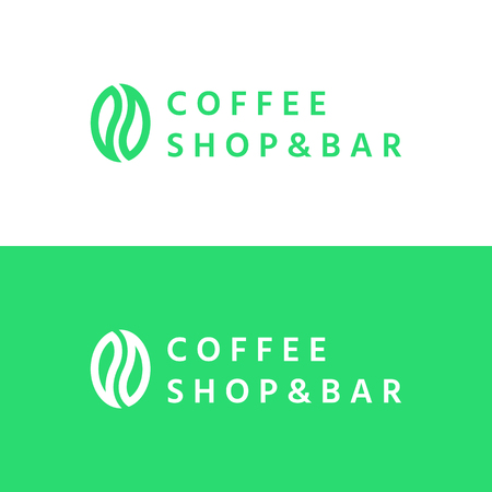 Coffee seed - logo Illustration