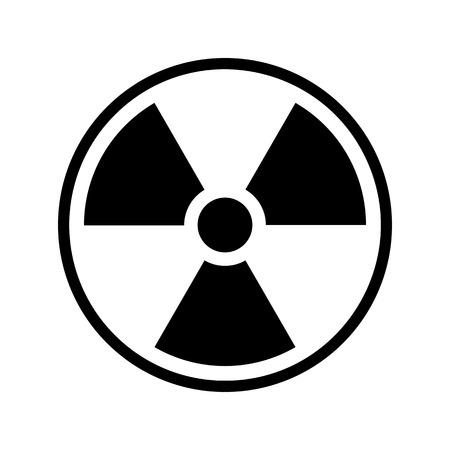 Ionizing radiation icon vector illustration.
