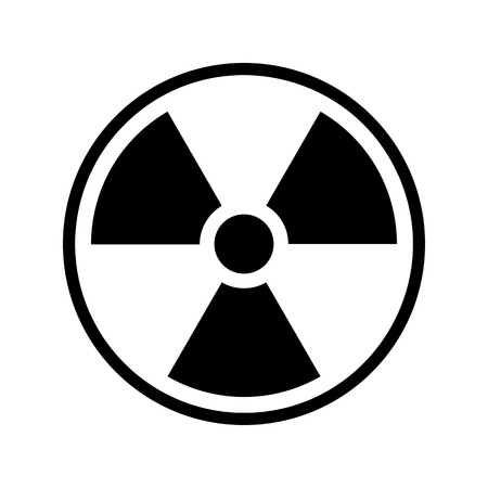 uranium: Ionizing radiation icon vector illustration.