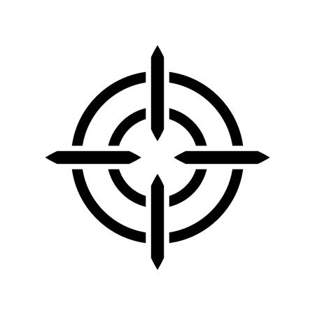Aim icon  イラスト・ベクター素材