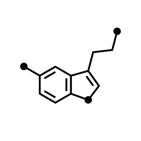 Chemical formula icon. Serotonin
