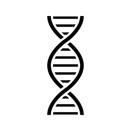 DNA icon vector illustration on white background.
