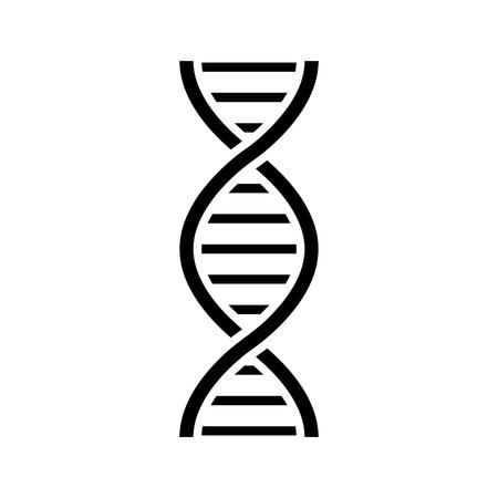 DNA icon vector illustration on white background.