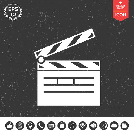 film industry: Clapperboard icon