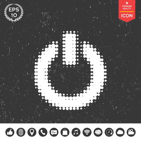 Power button - halftone logo.