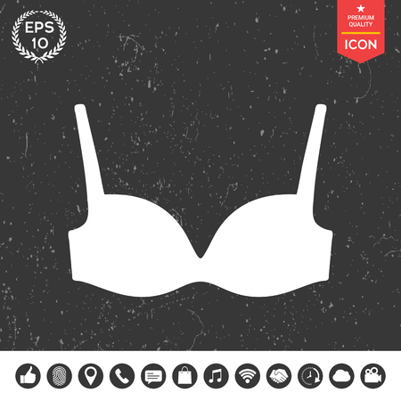 nursing clothes: Woman underwear, the silhouette. Menu item in the web design