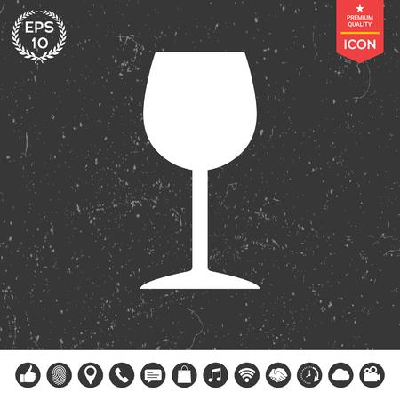 champagne celebration: Wineglass icon Illustration
