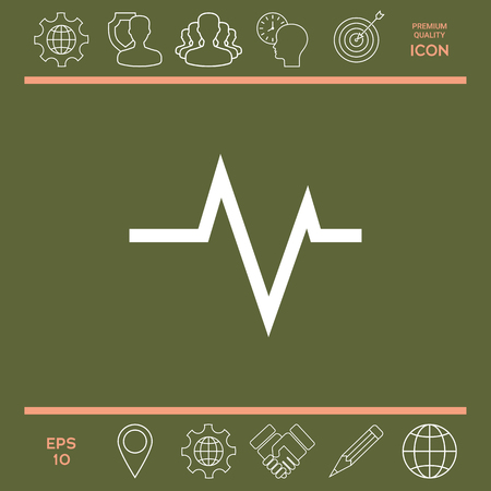 heart monitor: ECG wave - cardiogram symbol. Medical icon