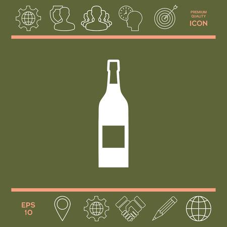 champagne celebration: Bottle of wine icon