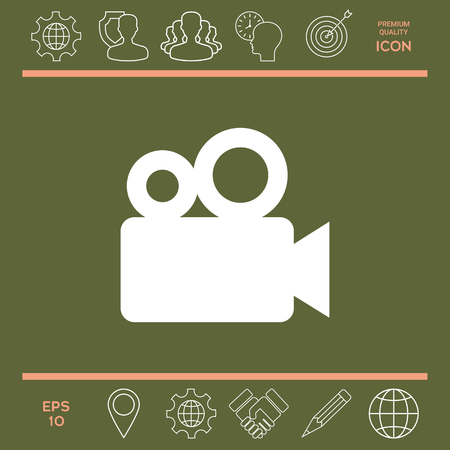 film industry: Movie camera icon