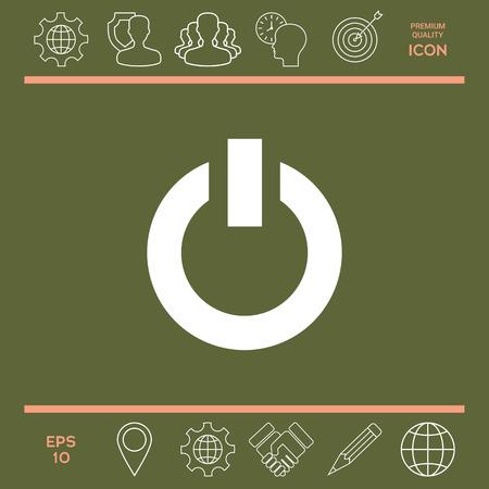 Power button icon Stock Vector - 85031739